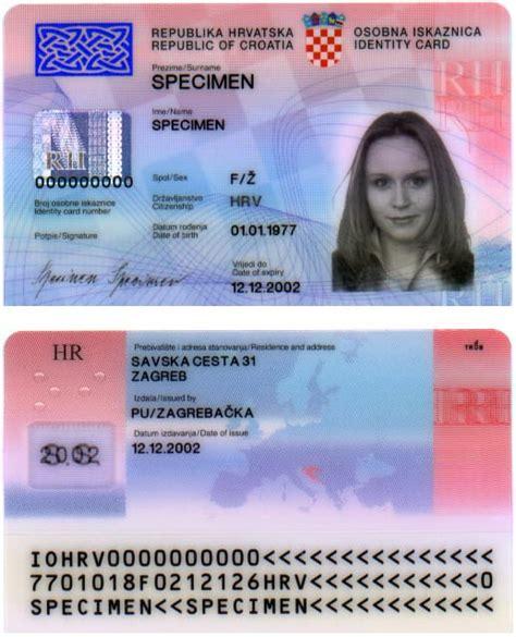 how to make a identity card file croatian id card specimen jpg