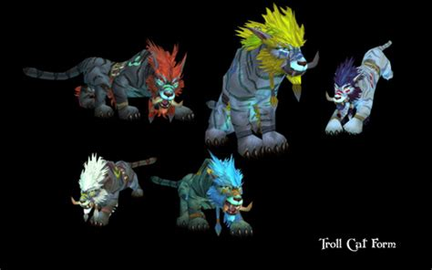 Troll and Worgen Druid Forms Revealed World of Warcraft