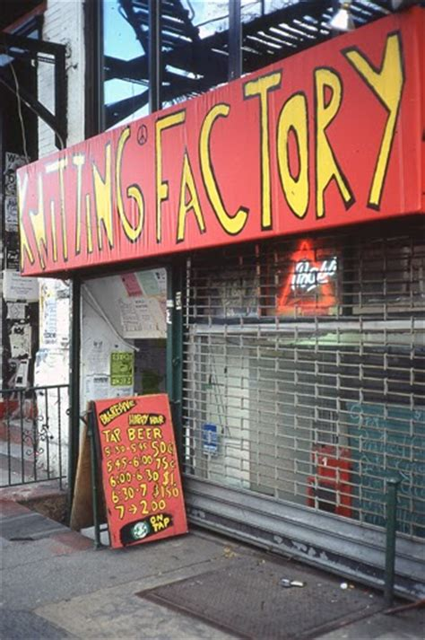 knitting factory ny new york city 1990 s photo archives by gregoire
