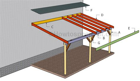 carport building plans how to build an attached carport howtospecialist how