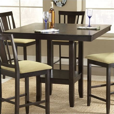 counter height dining table hillsdale arcadia square counter height casual espresso