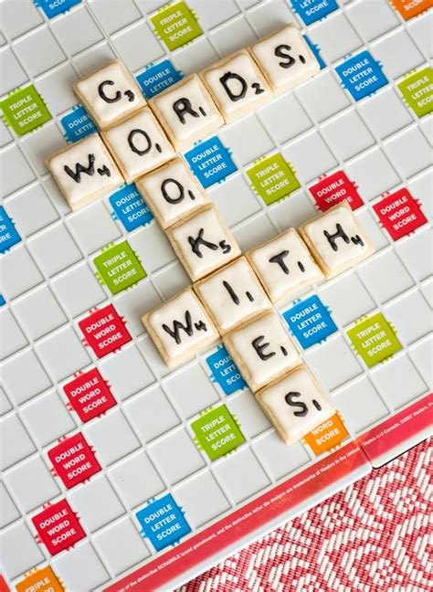 scrabble phrases words with cookies scrabble inspired cookie designs bit