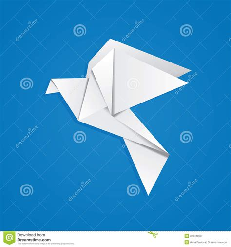 origami pigeon origami pigeon royalty free stock images image 32841069