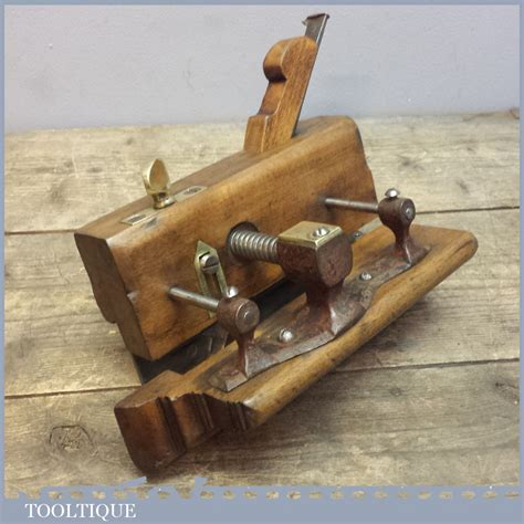 ancient woodworking tools antique patent beech plough plane