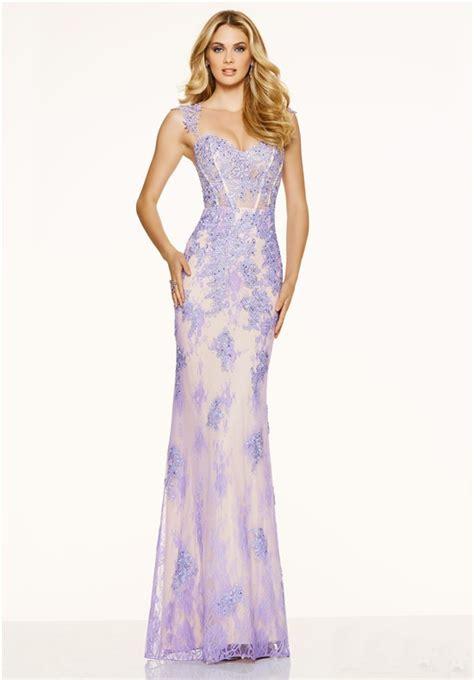 beaded mermaid prom dress mermaid sweetheart open back lilac lace beaded