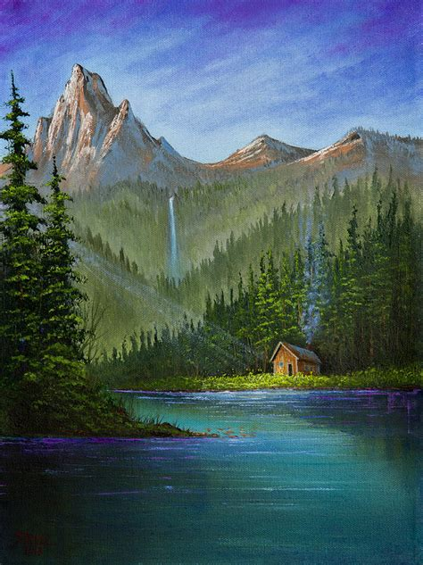bob ross of painting uk mountain painting by c