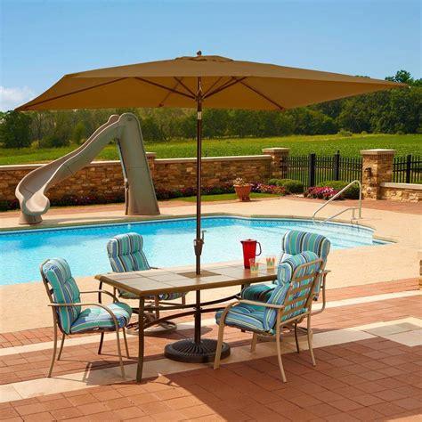 5 ft patio umbrella island umbrella adriatic 6 5 ft x 10 ft rectangular