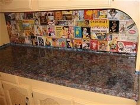 decoupage countertops picture of backsplash i decoupaged using vintage drink