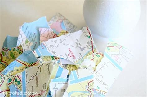 map decoupage decoart crafts decou page decorative map balls