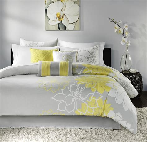 yellow and white bedding sets yellow grey white simple modern bedding sets ease