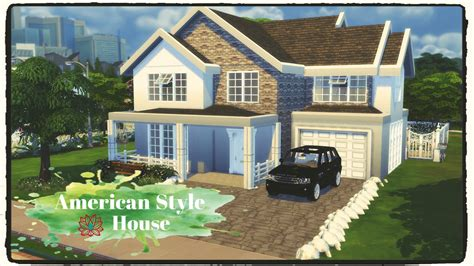 style house sims 4 american style house build decoration dinha