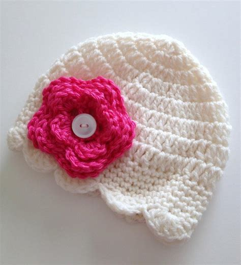 how to knit flowers for baby hat you to see newborn baby hat button on flower by
