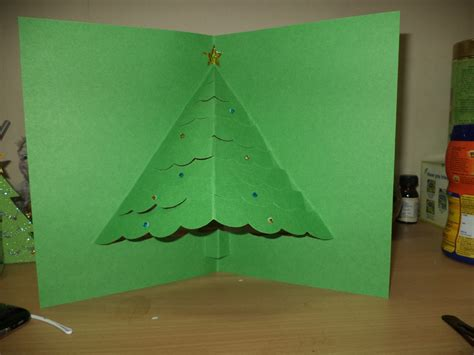 how to make a tree card 3d pop up tree card allfreechristmascrafts