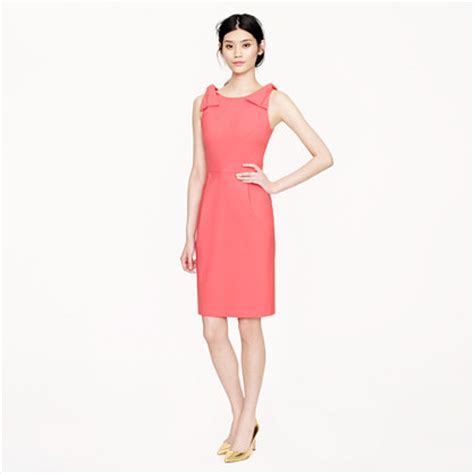 j crew origami dress origami bow dress in stretch wool dresses j crew