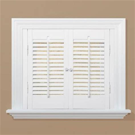 shutters home depot interior homebasics traditional real wood snow interior shutter