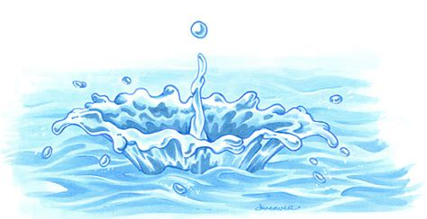 how to color water creating a colorful water splash copic