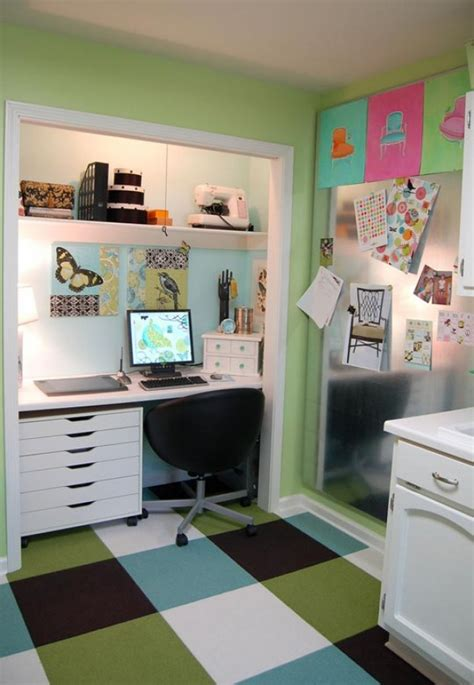 Small Homes create a functional home office from a closet freshome com