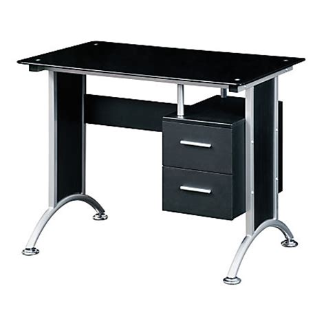 office depot computer desks for home techni mobili glass computer desk black by office depot