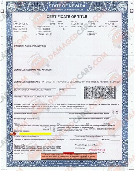 Rebuilt Car Title by How To Transfer A Lost Car Title In