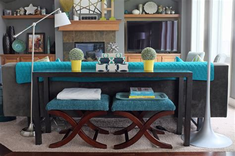 decorate sofa table how to style a sofa table