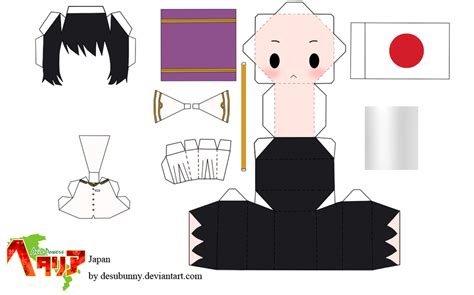 paper craft japan hetalia japan papercraft by tsunyandere on deviantart