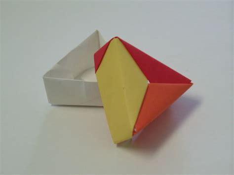 triangle box origami origami boxes
