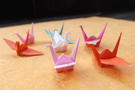 mini origami mini origami crane in assorted colors and patterns