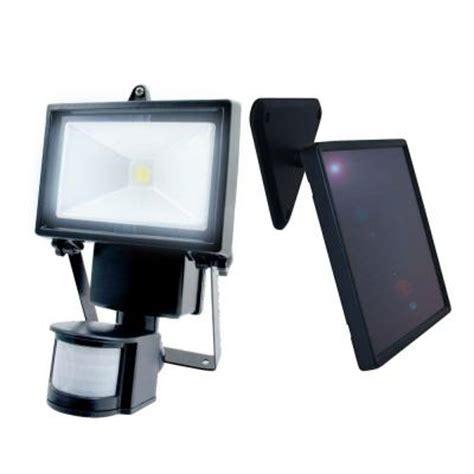 home depot solar motion lights nature power 160 176 black outdoor solar motion sensing
