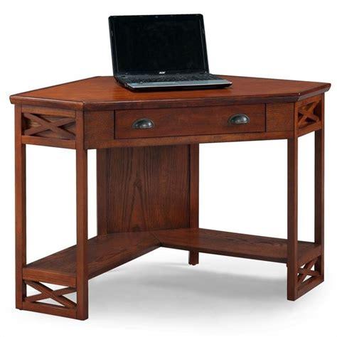 oak corner computer desks leick furniture corner computer desk in oak 82431