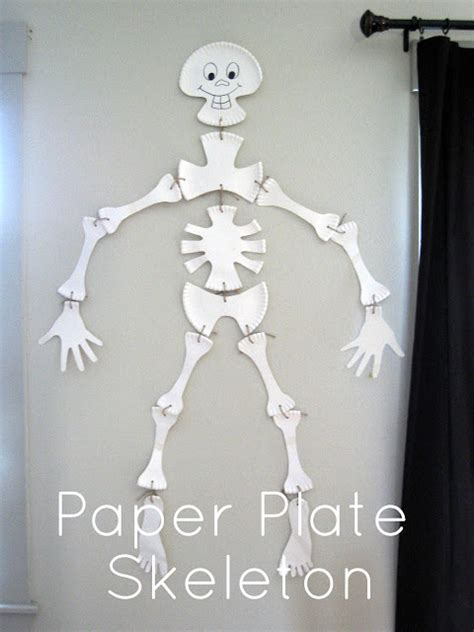 Crafts Paper Plate Skeleton The 36th Avenue