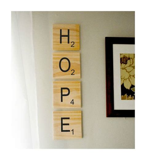 is yea a word in scrabble scrabble style wood wall choose your own