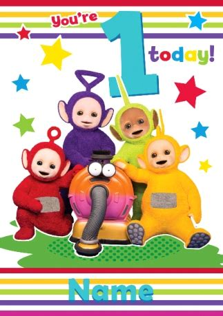 teletubbies cards teletubbies birthday card 1 today funky pigeon