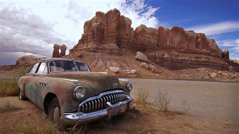 Car Landscape Wallpaper by Desert Cars Landscape Nature Rocks Mountains Wallpaper