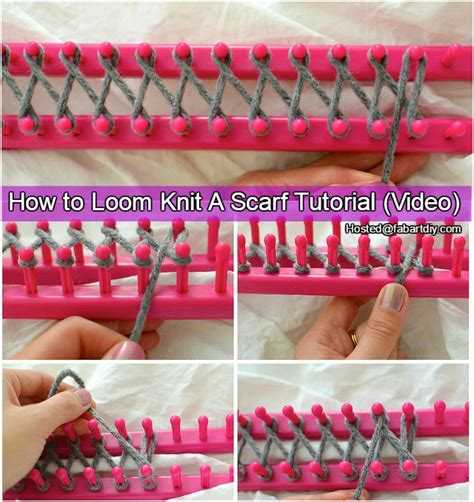 how to loom knit a scarf on loom how to loom knit scarf tutorial