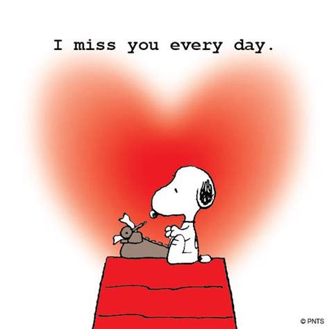 i miss you a look at peanuts on quot i miss you every day http t co