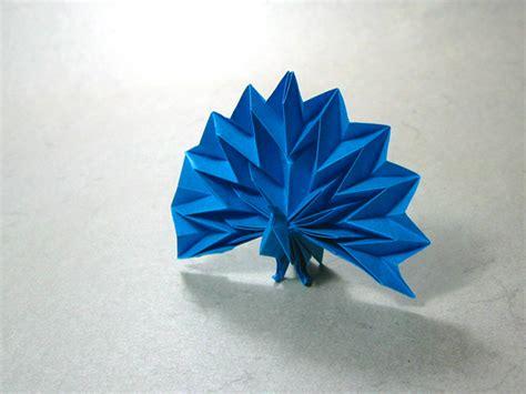 paper peacock origami peacock jun maekawa happy folding