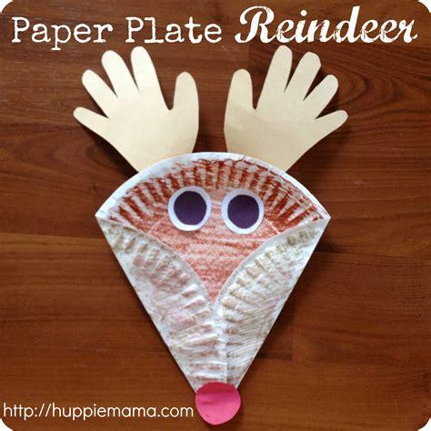 reindeer paper craft paper plate reindeer step 4 carrie
