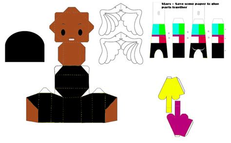 paper craft central central mo papercraft template by ricecooker on