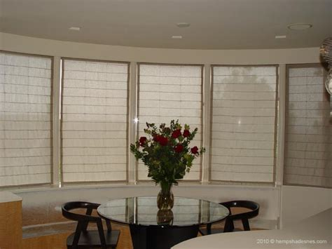 blinds for bow windows hemp shades blinds for bay or bow window treatment
