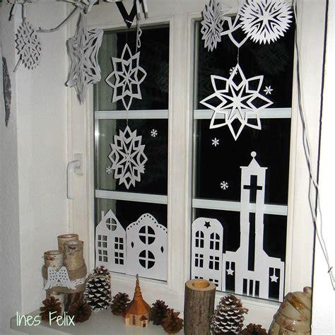 Fensterdeko Weihnachten Sprühschnee by Weihnachts Fensterdeko Aus Papier Das Ist Die
