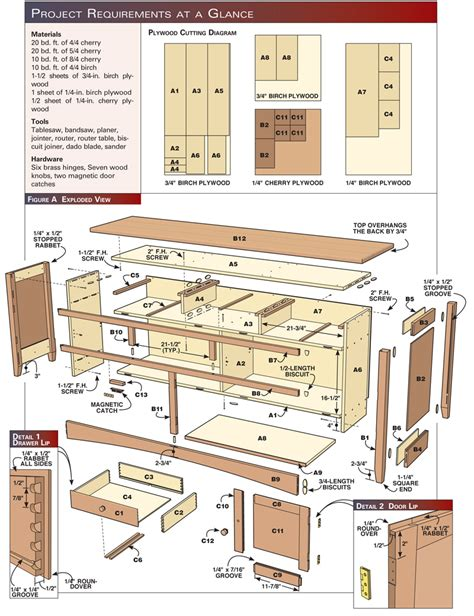 buffet woodworking plans shaker sideboard popular woodworking magazine