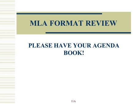 modern language association mla general academic paper guidelines ppt
