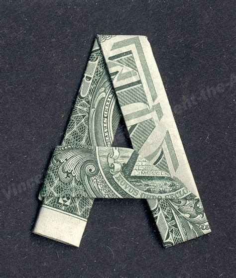 dollar bill origami letters money origami letters made with real dollar bill