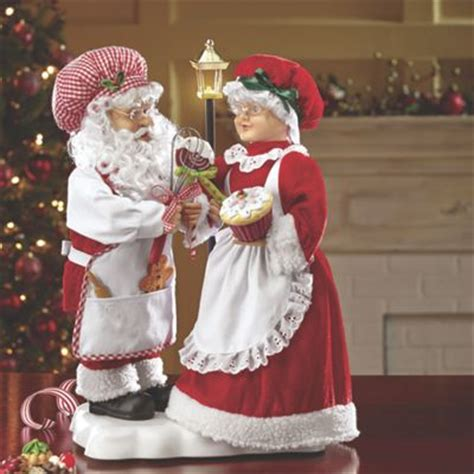 animated mr and mrs claus animated santa and mrs claus from seventh avenue dk704397