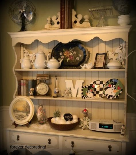 kitchen hutch decorating ideas forever decorating winter hutch 109