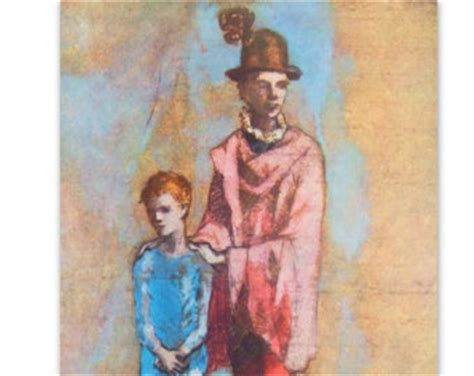 picasso paintings blue boy items similar to pablo picasso tipped in print quot two