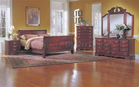 cherry finish bedroom furniture cherry finish bedroom set