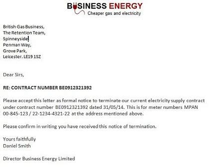 Authorization Letter Sample For Electric Bill gas and electricity example termination notice letters