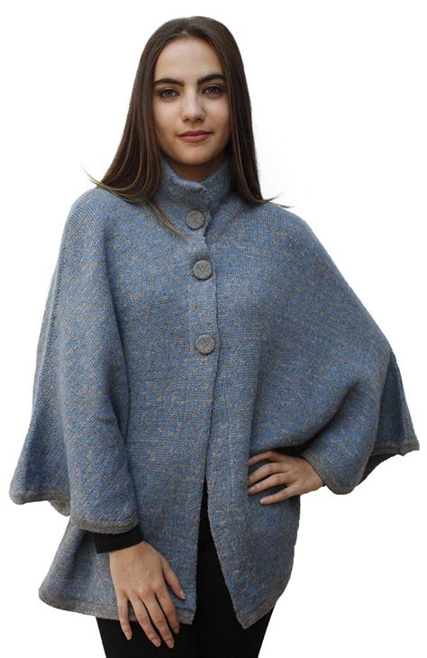 knitted cape poncho s soft warm alpaca wool knitted knit yarn cape coat