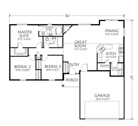 open one story house plans beautiful single story open floor plan homes new home plans design